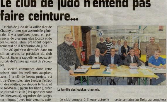AG du Judo Club de Chauny dans l'Union