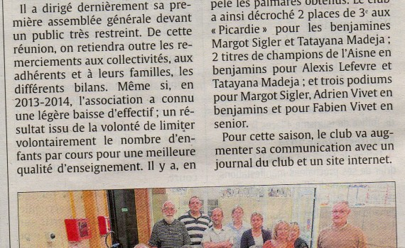 AG du Judo Club de Chauny - 04 Septembre 2014